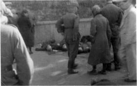 1941 год, Киев, Мариинский парк, расстрелянные нквдисты