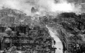 1941 год, Киев, Крещатик, центр города, аэрофотосъемка
